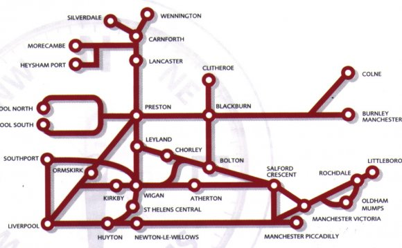 Northern train rail map