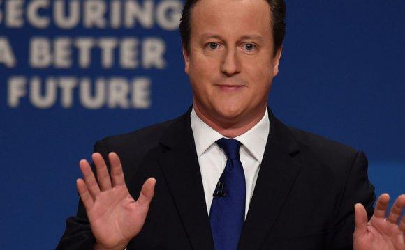 Mr Cameron, looking hugely