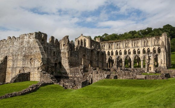 Rievaulx Abbey under cloudy