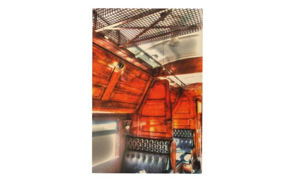 STEAM TRAIN CARRIAGE WITH ART