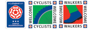 3star campus and welcome cyclists and welcome walkers