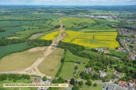 A684 Bedale Roundabout looking North towards A1(M) Displays a larger version of this image in a new browser window