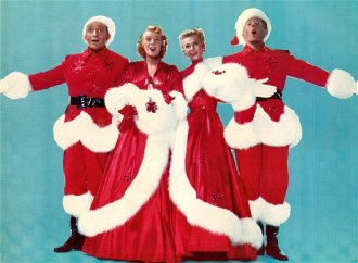 Bing Crosby, Rosemary Clooney, Vera Ellen and Danny Kaye in White Christmas