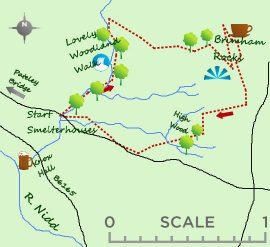 Brimham Rocks map