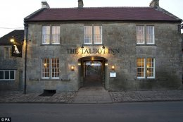 Cheers: The Talbot Inn at Mells, Somerset, won the title of Pub-With-Rooms of the Year