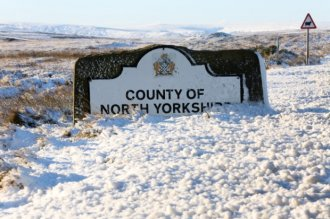 Danby village in the the North Yorkshire Moors was under a blanket of snow this morning with a temperature of -1. Picture: Ross Parry Agency