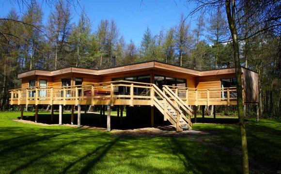 Log cabins with hot tubs North Yorkshire