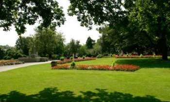Nice: Stockport was the second happiest town in the UK according to the poll. Pictured are Memorial Gardens in Marple