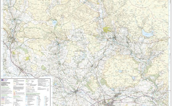 North Yorkshire Moors map