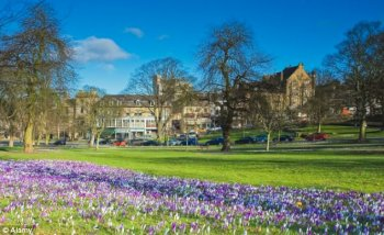 Picturesque: West Park stray in Harrogate - the town has a population of around 75, 000