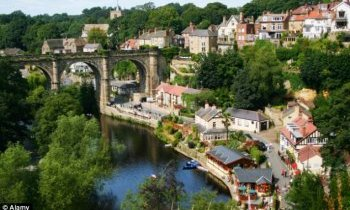 Stunning: Knaresborough is an old and historic market town,  spa town and civil parish in the Borough of Harrogate