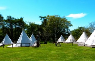 Tipis (teepees) at Pinewood Park, Yorkshire's original Glamping site.
