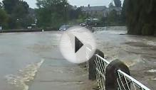 Flooding at Crakehall, Bedale, N Yorkshire, England, 25th