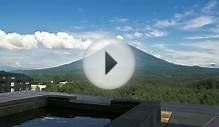 Mt Yotei time lapse over private hot spring hot tub
