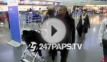 (New) Kim Kardashian with Kanye West and North West at JFK