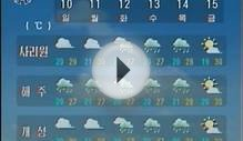 North Korea TV Weather Forecast (DPRK KCTV)