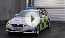 North Yorks Police BMW 330D Traffic Car Blue Light Demo