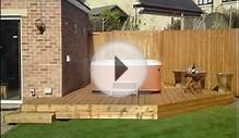 TimberPro.co.uk - Garden fencing and decking with Hot tub