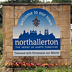 Welcome to Northallerton roadsign